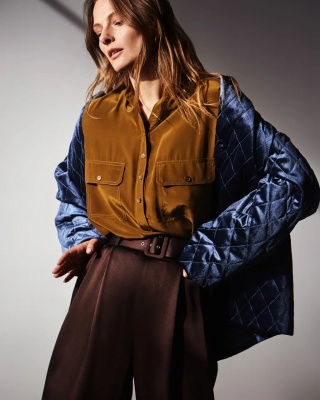 Campaign AW 19/20 RUSSA BLUE JACKET + VIENNA BLOUSE