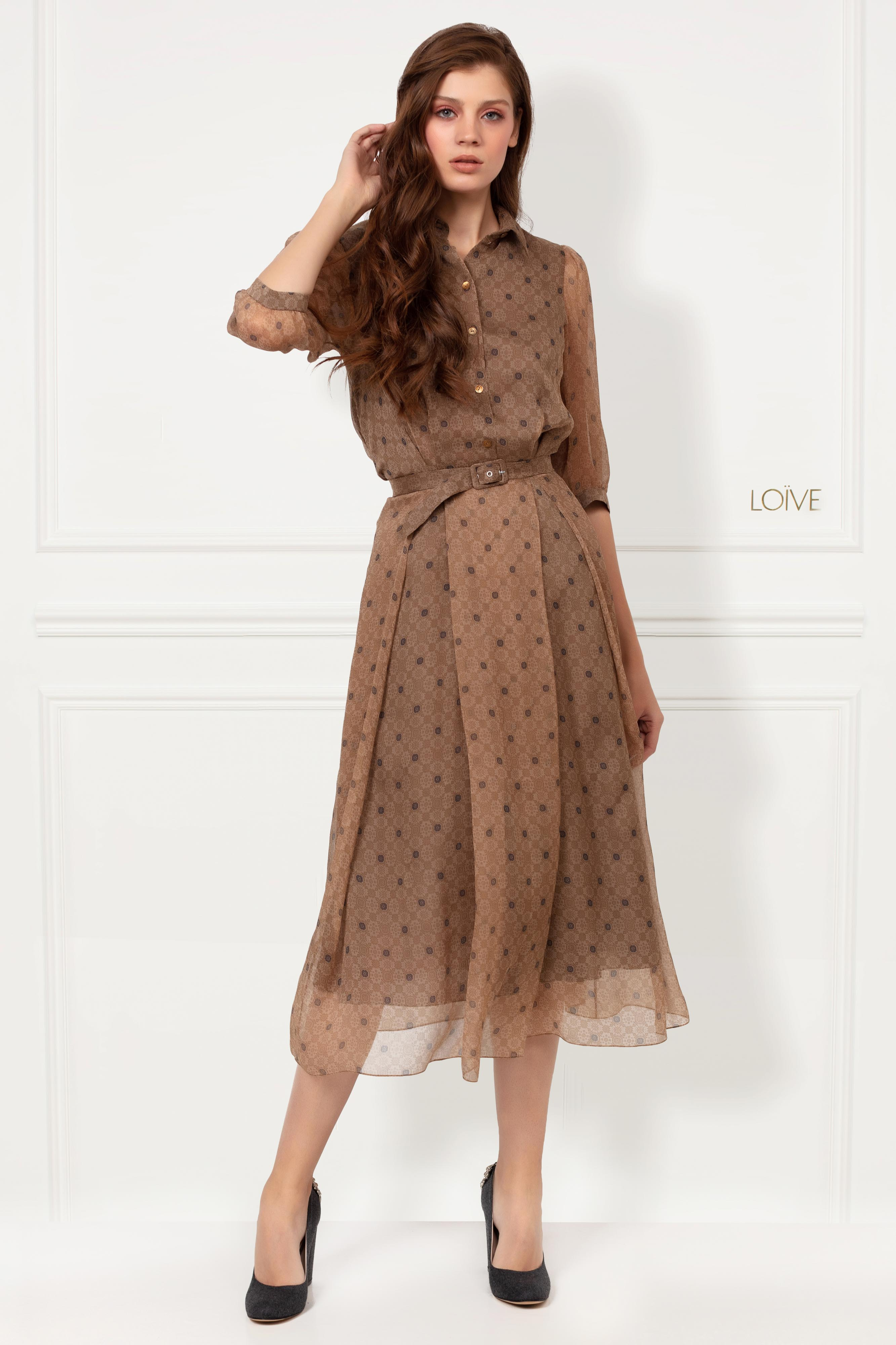 CLAIRE BROWN DRESS