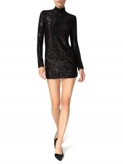 BLACK SEQUINE TUNIC